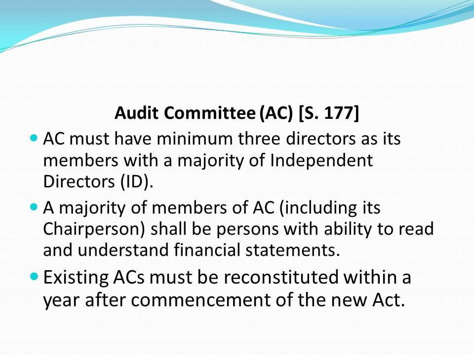 Audit Committee (AC) [S. 177]